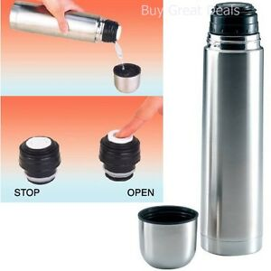 1-Liter-Vacuum-Stainless-Steel-Hot-Chocolate-Tea-Coffee-Bottle-Thermos-NEW
