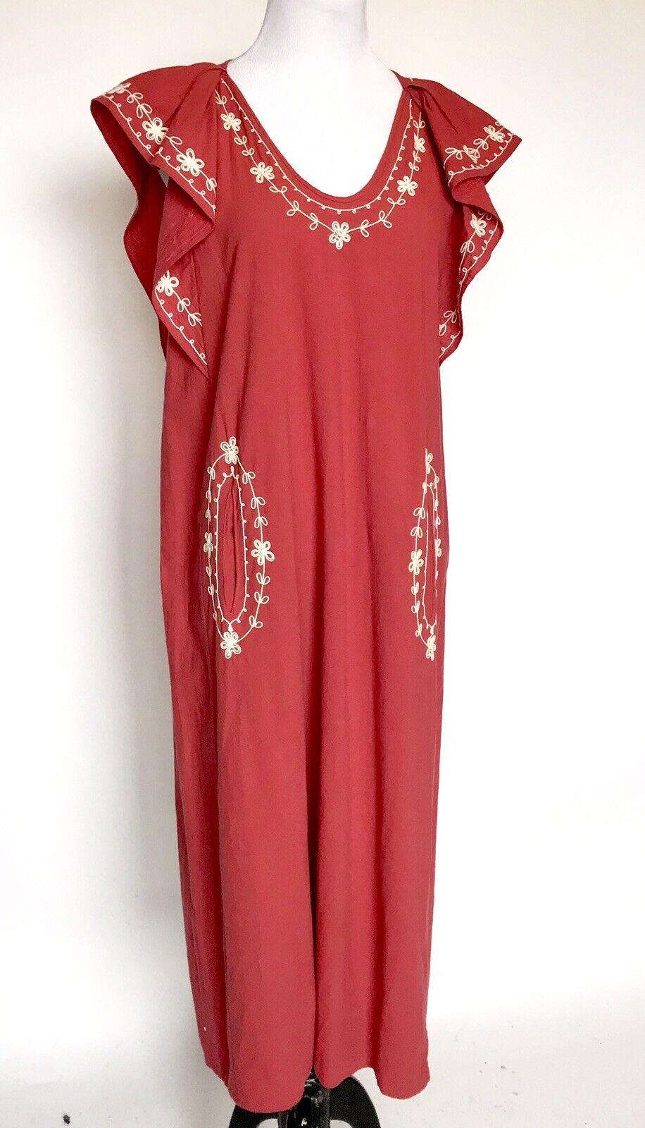 THE GREAT Saffron Vineyard Embroiderot Midi Dress Größe 1 S Retail  Price