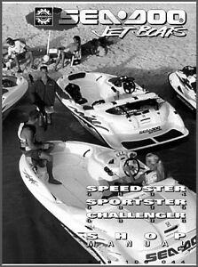1996 sea doo sportster challenger speedster jet boat service repair rh ebay com 1996 seadoo spi service manual 1996 seadoo gti service manual