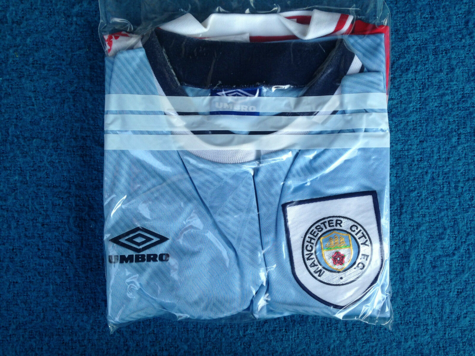 MANCHESTER CITY CITY CITY Trikot shirt camiseta 90´S OFFICIAL UMBRO Größe XL 824730