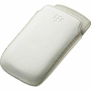 Genuine BlackBerry White Leather Pocket Case Pouch for 9310 9320 ACC-48097-202