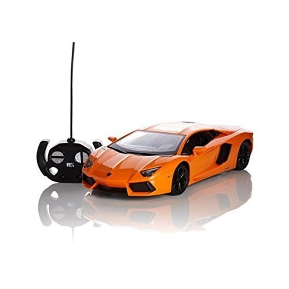 Official Rc Car Scale 1 10- Lamborghini Aventador - orange - Radio Remote