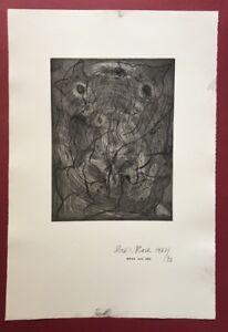 Dieter Roth, composizione IV, acquaforte, 1977/1991, a mano firmata e datata