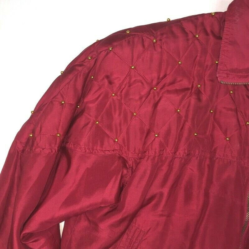 Fuda International Womens PM  Jacket Red Gold Sil… - image 4