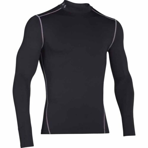 Nero Mock lunga acciaio Compression Coldgear Armour Uomo Manica Under w6Uq0