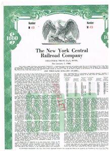 New York Central Railroad Co., 1955, $1000 Bond,  COX  NEW-530b-B-77c, seltener