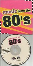 RARE Limited PROMO CD w/ ERASURE Echo & the Bunnymen INXS and A HA aha 2008 USA