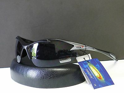 Sport Mens Wrap Designer Sunglasses Driving cycling Shades + Microfiber Bag #092