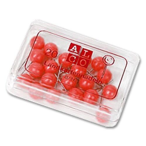 Alco Landkartennadeln 5 mm rot 100 Stück 0,03€//Stück
