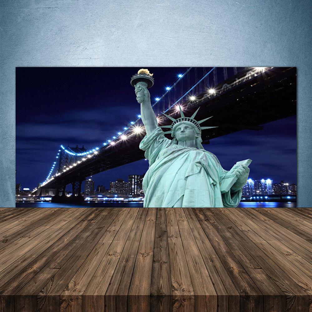 Crédence de cuisine en verre Panneau 140x70 Pont Statue De La Liberté New York