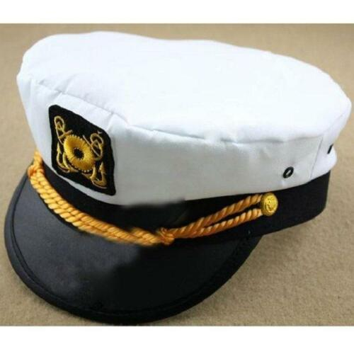 Unisex Women Men Captain Sailor Snapback Cap Boat Yacht Halloween Costume Hat FM