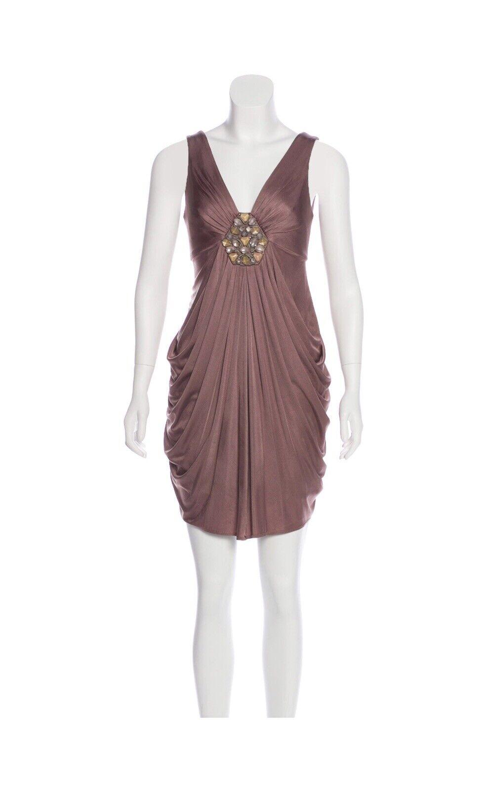 BCBG Max Azria Größe XS Sleeveless Knee-Length Dress