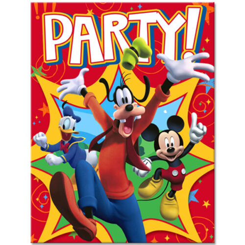 Mickey Mouse Birthday Party Supplies Invitations
