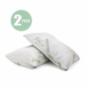 Plixio-Bamboo-Shredded-Memory-Foam-Pillow-with-Hypoallergenic-Cover-2-Pack-Queen