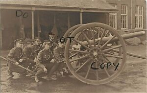 Details about WW1 soldier group TF Territorial Royal Artillery crew & 15  Pounder ? Field Gun
