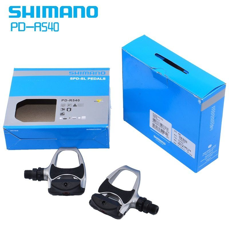 SHIMANO PD-R540 SPD-SL Clipless Pedals Road Bike With SM-SH11 Float Cleats