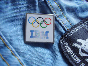 Pin-IBM-Olympia-Sponsor-Olympiade-International-Business-Machines-United-States