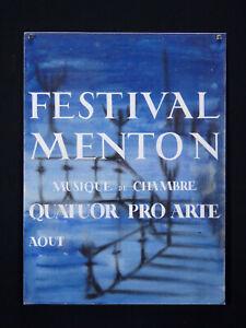Projet-d-039-Affiche-Gouache-originale-Festival-de-Menton-musique-classique-quatuor
