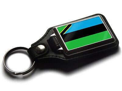Russland Flagge National Farben Qualitätsleder und Chrom Schlüsselring