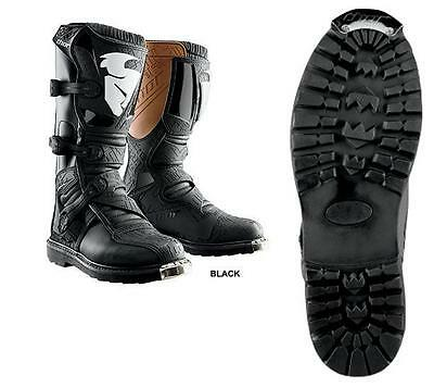 NEW MENS MX MOTOCROSS ATV RIDING BOOTS THOR BLITZ BLACK ALL SIZES 7-15 ATV SOLE