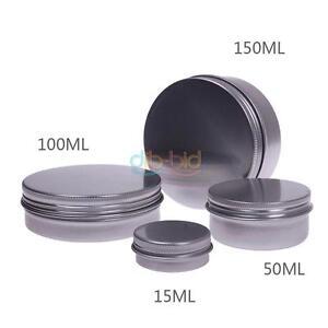 25-30-80-150-ML-Women-Nail-Cream-Holder-Pot-Lip-Balm-Tin-Container-Bottle-BY