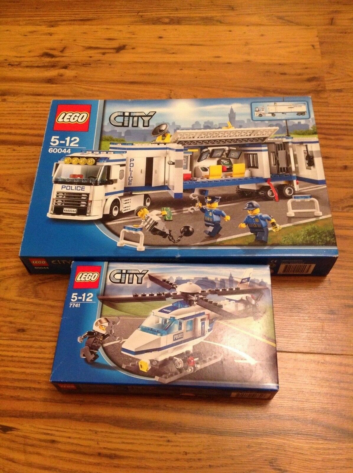 Lego City Police Lorry 60044 and Police Helicopter 7741 Birthday Present