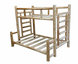 1-Selling-Rustic-Cedar-Log-Bunk-Bed-Choose-Your-Size-Easy-Assembly