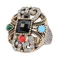 Salwar Kameez Saari Indian Style Women's Rhinestone Crystal Agate Fashion Ring