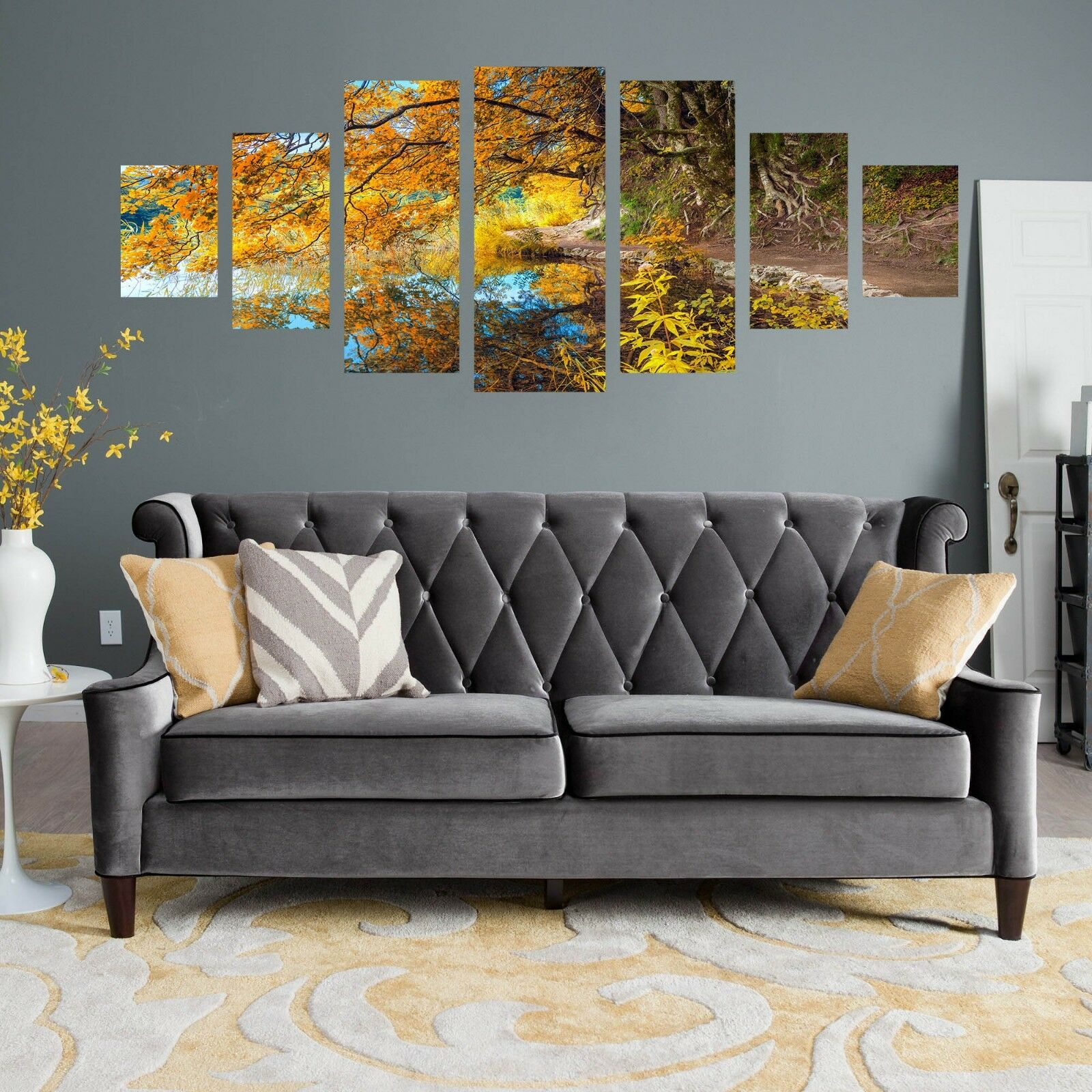 3D River Fall Tree Leaf 123 Unframed Drucken Wand Papier Deco Innen AJ Summer