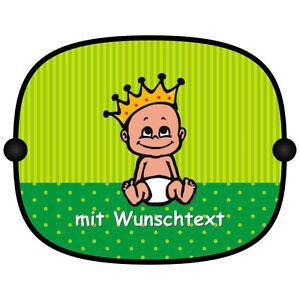Mega-Print Sonnenschutz Auto Baby Kinder Sonnenblende mit Wunschtext Motiv B302b