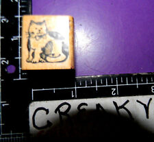 KITTY CAT SITTING SMALL RUBBER STAMP DELAFIELD RETIRED B103