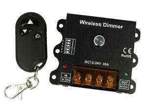Led-Dimmer-PWM-12V-24V-30A-Con-Telecomando-RF-Wireless-Frequenza-Regolabile