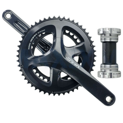 Shimano Sora FC-R3000 2x9 Speed Chainset Crankset 50t//34t 170mm Arms BB-RS500