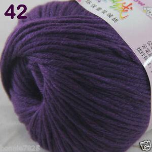 Sale-1-Skein-x50g-Baby-Cashmere-Silk-Wool-Children-hand-knitting-Crochet-Yarn-42