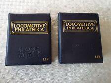 Locomotive Philatelica - 864 MNH 9 S/S Errors Imperf Railways Stamps In 2 Albums