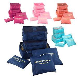 6pcs Impermeabile da Viaggio Borse Di Stoccaggio Vestiti imballaggio Cube bagagli Organizzatore Pouch  </span>