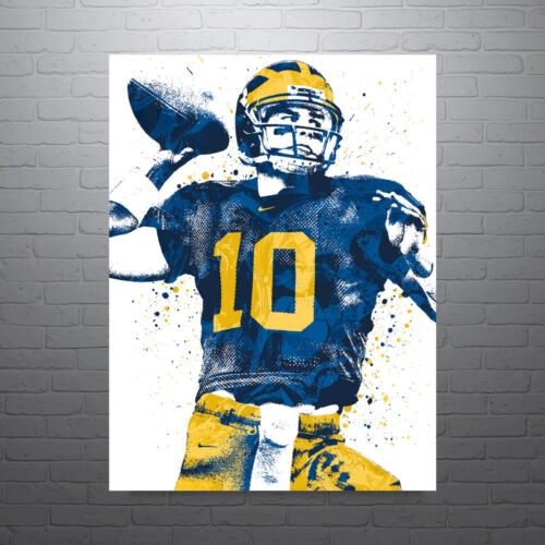 Tom Brady Michigan Poster FREE US SHIPPING
