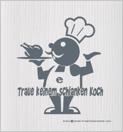 """House of Emotions Spüllappen /""""Koch/"""" Abwaschlappen Lappen Putztuch Küche 020054"""