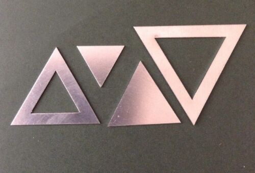 Dos Tamaños De Metal Triángulo plantillas de retazos 37.5mm /& 25mm Quilting//coser