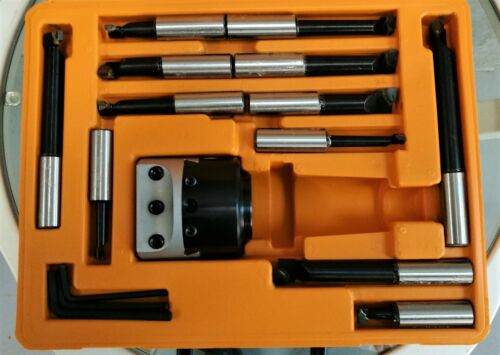 50mm boring head with 12 mm shank 9 pcs metric boring bar with Shank of Choice