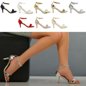 Womens-Low-Heel-Stiletto-Sandals-Ladies-Peep-Toe-Party-Prom-Ankle-Strap-Shoes