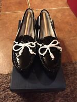 Cole Haan grant Lte Patent Leather Slip On Size 5b Black/white