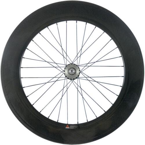 Track Wheel 88mm Clincher //Tubular Fixed Gear Rear Wheels Track Bike Wheel 700C