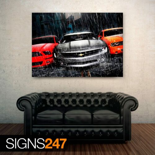 MUSTANG CAMARO DODGE Car Poster Photo Poster Print Art A0 A1 A2 A3 A4 0404