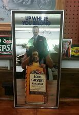 COLLECTABLE  WILT CHAMBERLIN/LORD CALVERT WHISKEY ADVERTISING MIRROR.
