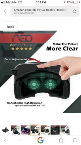 3D Virtual Reality Headset for Movies /& Games Multifocal VR With HD Technology