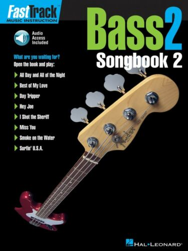 FastTrack Bass Songbook 2 Level 2 Music Instruction Book and Audio 000695369