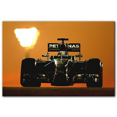 FORMULA 1 LEWIS HAMILTON FLAG picture ON FRAMED CANVAS WALL ART HOME DECORATION