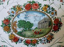 "SUPERB!  Historic Document Print Toile ""18th CENTURY SCENICS"" Fabric   6-36 yds"