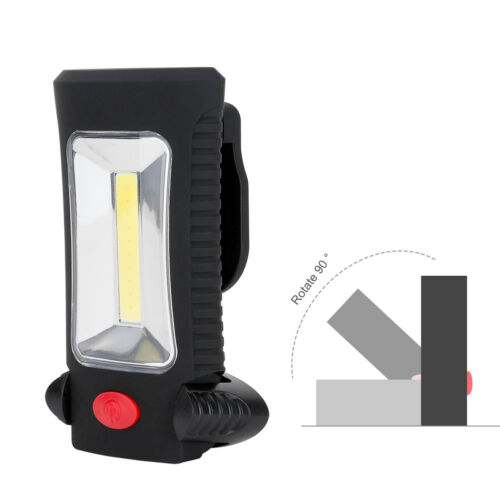 Portable 400 lm COB DEL Lampe de Poche Magnétique Crochet Clip Travail Lumière Camping